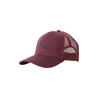 KENTUCKY TRUCKER CAP BORDEAUX GEBORDUURD LOGO