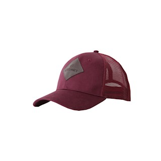 KENTUCKY TRUCKER CAP BORDEAUX LEDER LOGO